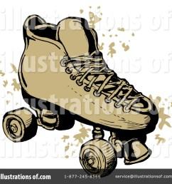 royalty free rf roller skates clipart illustration 211842 by patrimonio [ 1024 x 1024 Pixel ]
