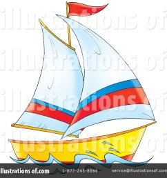 royalty free rf sailboat clipart illustration 32830 by alex bannykh [ 1024 x 1024 Pixel ]