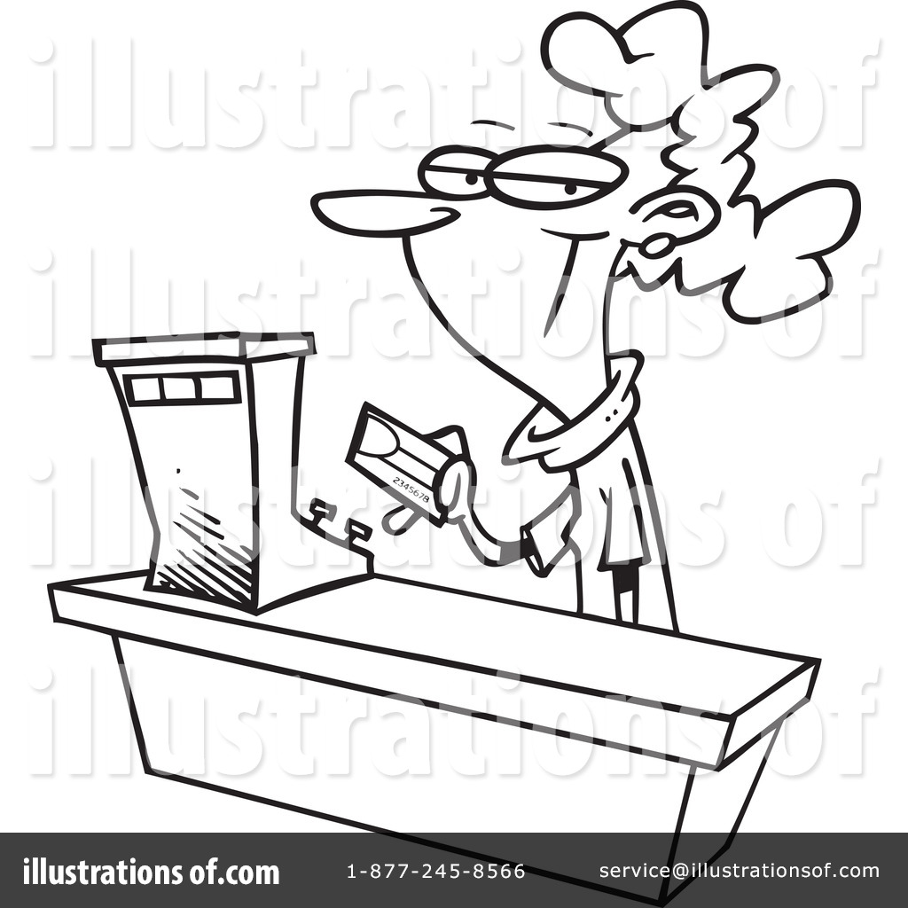 Cash Register Coloring Pages