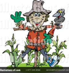 royalty free rf scarecrow clipart illustration by dennis holmes designs stock sample [ 1024 x 1024 Pixel ]