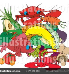 royalty free rf seafood clipart illustration by dennis holmes designs stock sample [ 1024 x 1024 Pixel ]