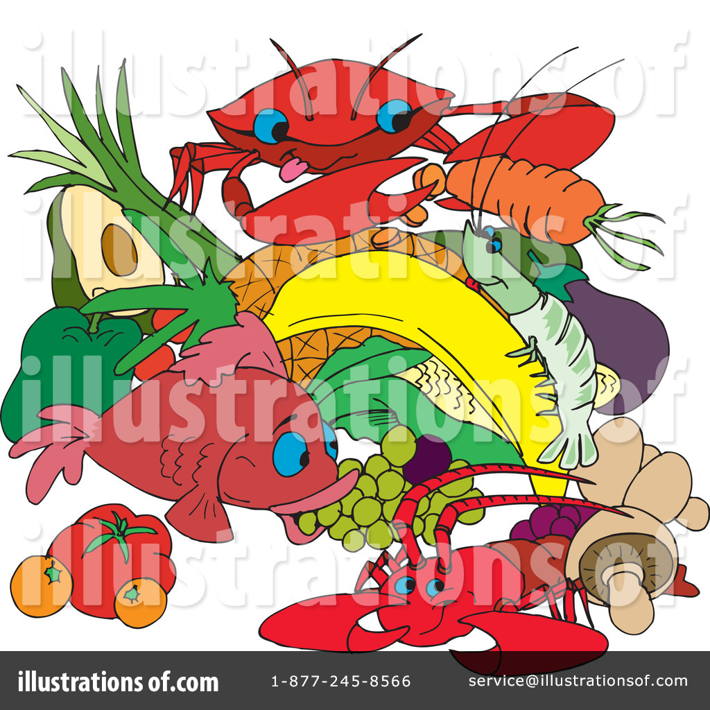hight resolution of royalty free rf seafood clipart illustration by dennis holmes designs stock sample