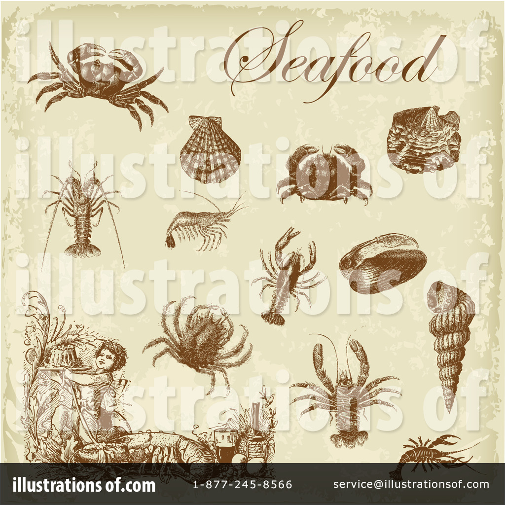 hight resolution of royalty free rf seafood clipart illustration 211206 by eugene