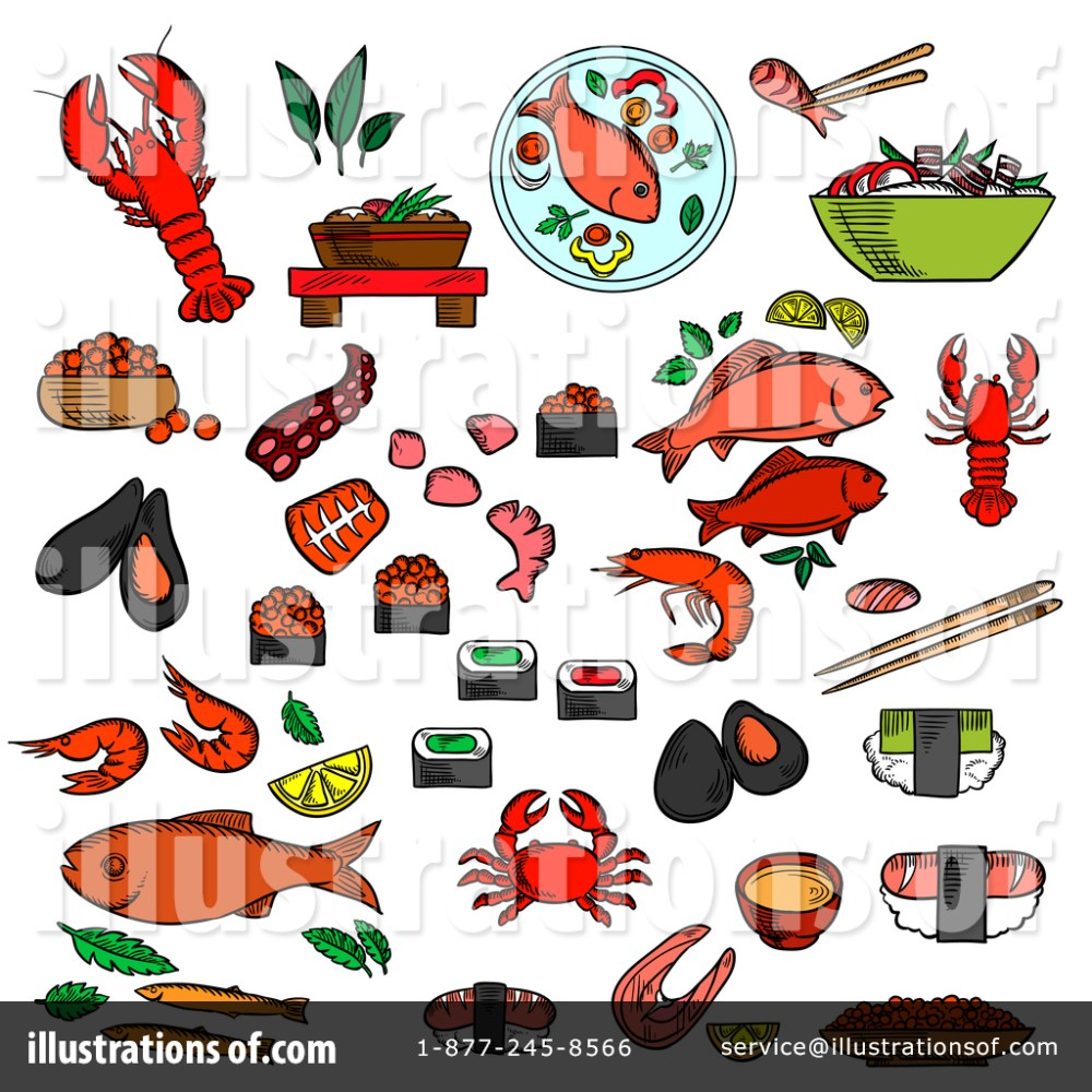 medium resolution of royalty free rf seafood clipart illustration by vector tradition sm stock sample