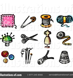 royalty free rf sewing clipart illustration 57976 by nl shop [ 1024 x 1024 Pixel ]