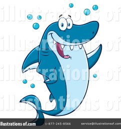 royalty free rf shark clipart illustration 1411233 by hit toon [ 1024 x 1024 Pixel ]