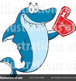 royalty free rf shark clipart illustration 1411863 by hit toon [ 1024 x 1024 Pixel ]
