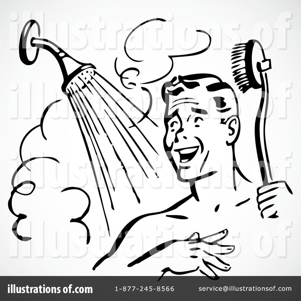 Taking a Shower Clip Art