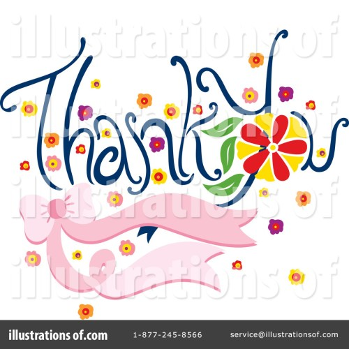 small resolution of royalty free rf thank you clipart illustration by cherie reve stock sample