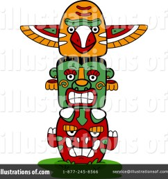 royalty free rf totem pole clipart illustration 1101832 by bnp design studio [ 1024 x 1024 Pixel ]