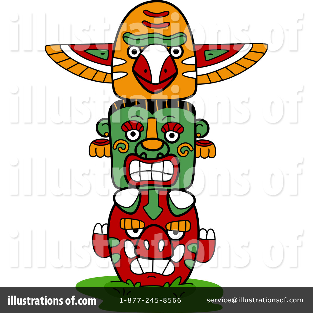 hight resolution of royalty free rf totem pole clipart illustration 1101832 by bnp design studio