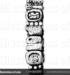 royalty free rf totem pole clipart illustration by david rey stock sample [ 1024 x 1024 Pixel ]