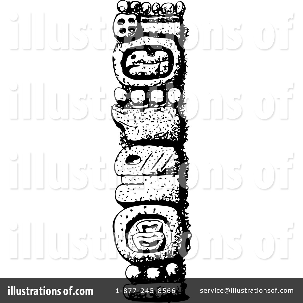 hight resolution of royalty free rf totem pole clipart illustration by david rey stock sample