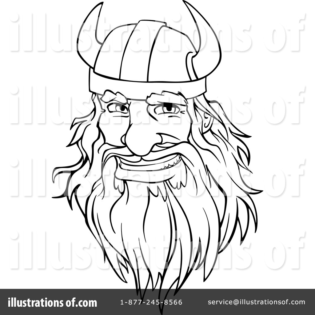 Free coloring pages of viking face