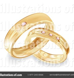 royalty free rf wedding rings clipart illustration 100740 by milsiart [ 1024 x 1024 Pixel ]