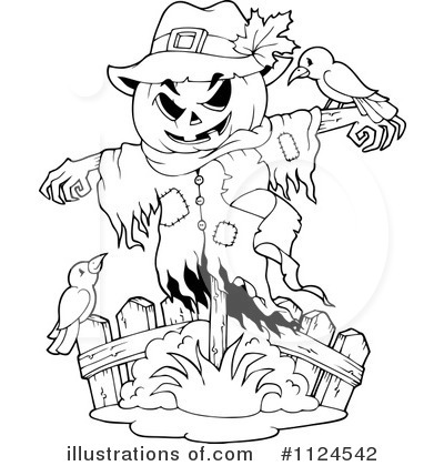 scarecrow clipart #1124542 - illustration