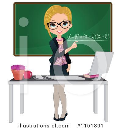 Royalty-Free (RF) Teacher Clipart Illustration #1151891 by Melisende ...