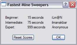 Minesweeper Highscores
