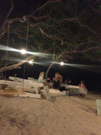 ristorante in spiaggia a Gili Trawangan