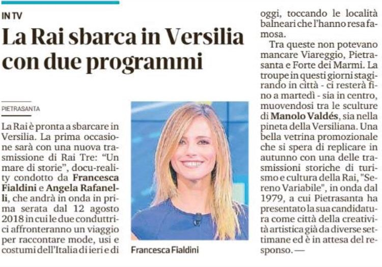 La Rai sbarca in Versilia con due programmi