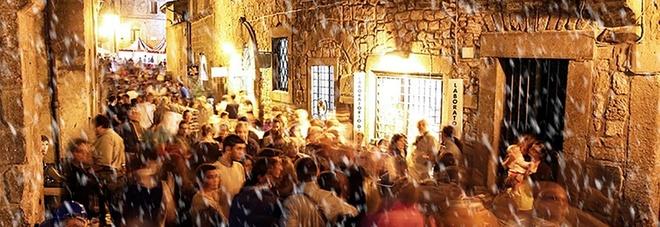Viterbo, il villaggio di Babbo Natale nel quartiere medievale di San Pellegrino
