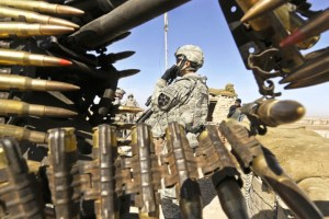 U.S. Soldiers from 4th Battalion, 23rd Infantry Regiment arrive at an Afghan National Police checkpoint in Helmand province, Afghanistan, Jan. 15, 2010. (U.S. Air Force photo by Tech. Sgt. Efren Lopez/Released)