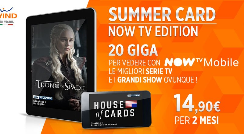 Con Wind serie e programmi più belli su Now TV #WindSummerCard