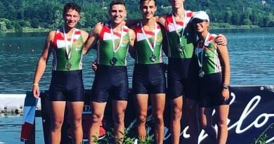 Canottaggio, il Posillipo Campione d'Italia nel 4 senza Under23 maschile.