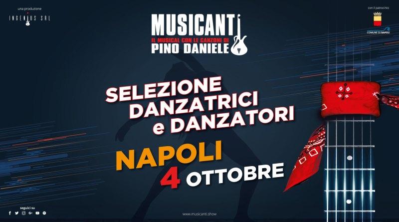 """""""Musicanti"""" lo spettacolo con musiche Pino Daniele cerca ballerini e ballerine"""