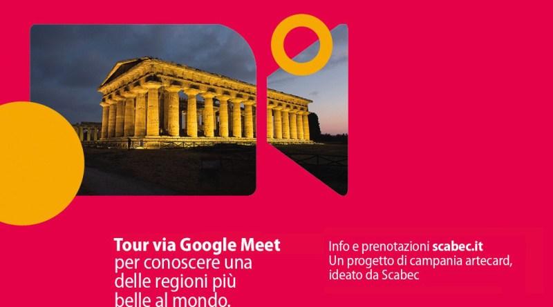 """Scabec #onlinecon le visite virtuali di""""Viaggio in Campania. Arte, storie e luoghi"""""""