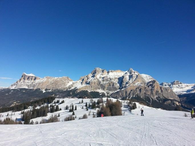 A lezione di sci in Alta Badia