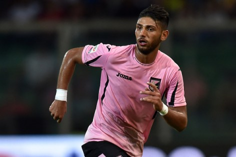 PALERMO, ITALY - AUGUST 23:  Achraf Lazaar of Palermo in action during the Serie A match between US Citta di Palermo and Genoa CFC at Stadio Renzo Barbera on August 23, 2015 in Palermo, Italy.  (Photo by Tullio M. Puglia/Getty Images)