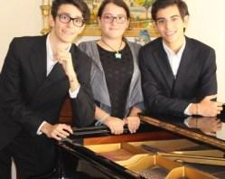Federico Di Noto, Carmen Sottile e Gabriele Laura,  i giovani pianisti dell'Ecole Joyeuse(1)