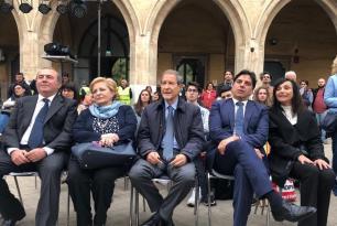 da sx: Giampiero Panvini, Rosalba Panvini, Nello Musumeci e Salvo Pogliese