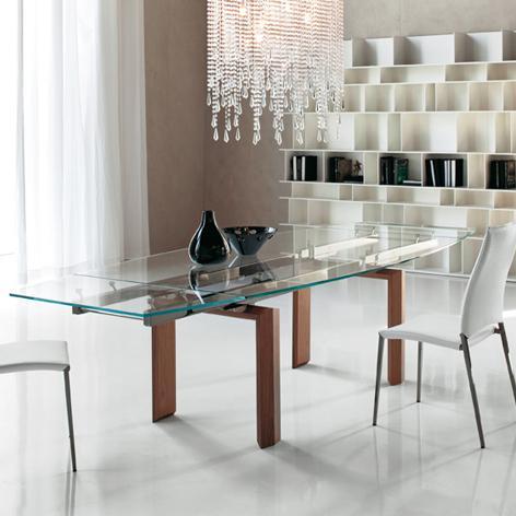 Tavoli in cristallo allungabili top  il modulo