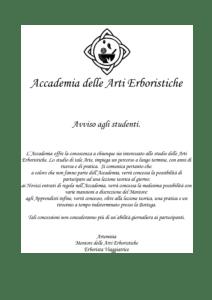 Bando dell'Accademia delle Arti Erboristiche