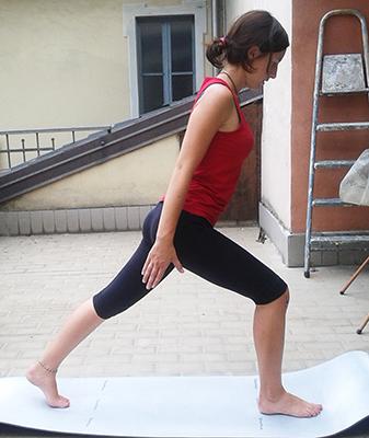 Esercizio 1 affondi e slancio braccia 1