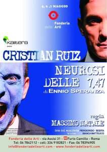 Cristian Ruiz in Neurosi delle 7.47: la missione dell'attore