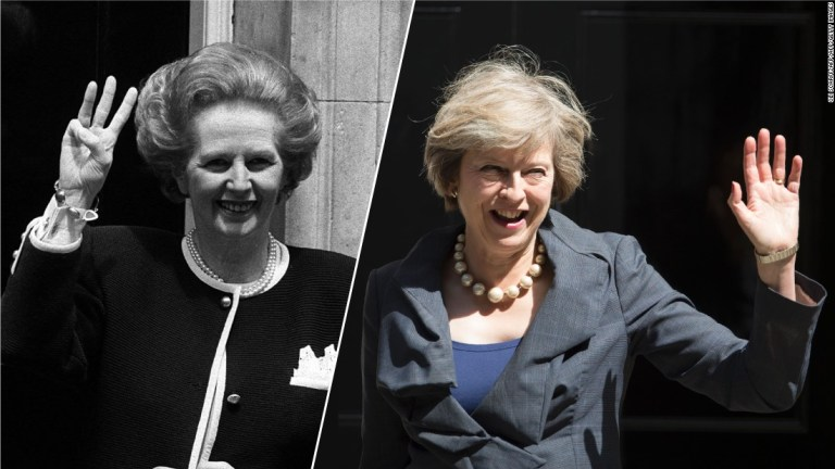 Margaret Thatcher e Theresa May  cnn.com