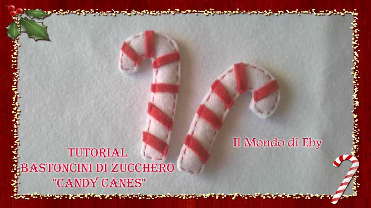 Dipingere Sassi Per Natale tutorial bastoncini di zucchero candy canes - il mondo di eby