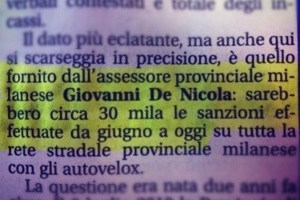 Raggiunta quota 30.000 multe, lo ammette De Nicola! firmiamo.it/velox