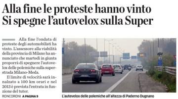 De Nicola pronto alla resa, annuncia lo spegnimento degli autovelox sulla Milano – Meda. Sarà vero?