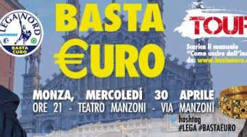 """Quella volta che Fazio disse:""""l'Euro sarà un purgatorio, non un paradiso"""". Il #bastaeuro Tour fa tappa a Monza"""
