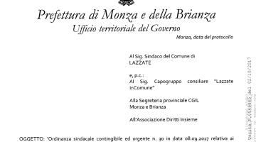 Il Prefetto di Monza fa politica. Clamoroso.