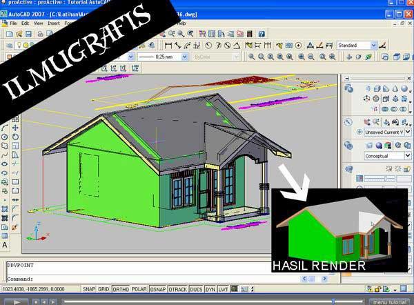 Video Tutorial Autocad 2007 Interior 3D untuk pemula hingga mahir