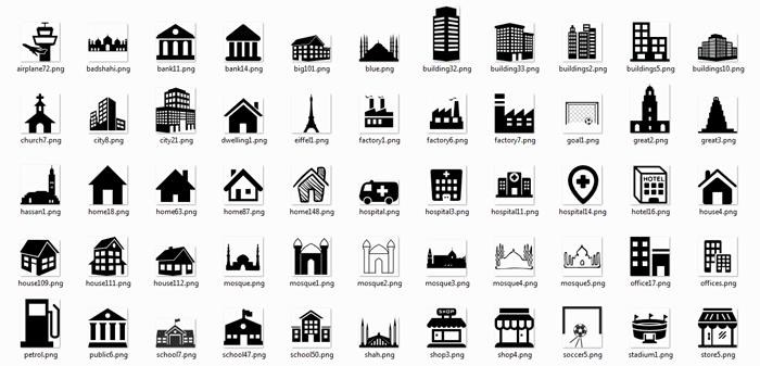 Desain Icon Untuk Pembuatan Denah Lokasi