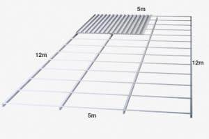kebutuhan baja ringan untuk kuda cara menghitung biaya atap dengan penutup seng