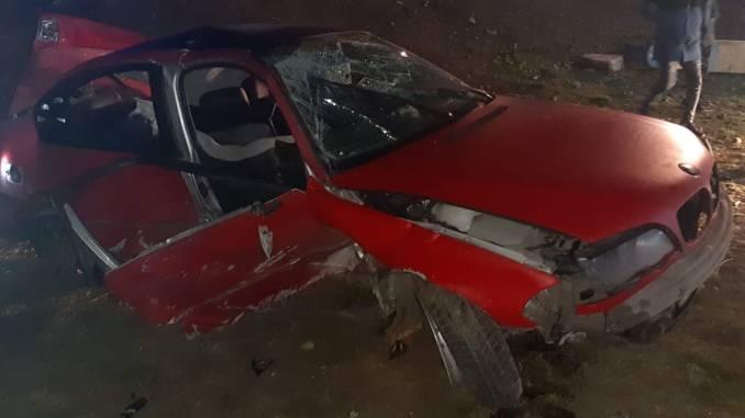 Accident rutier în localitatea ialomițeană Ciochina. FOTO ISU Ialomița