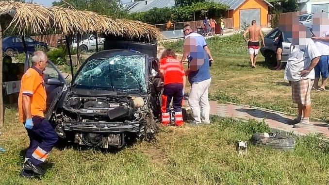 Accident rutier pe DN 2A, în satul Misleanu, comuna Pereți. FOTO IPJ Ialomița