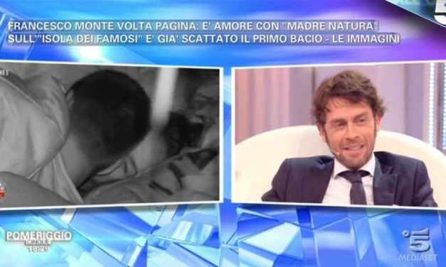 Francesco Monte, scattato il bacio con Paola   Isola dei Famosi 2018